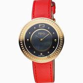 FENDI芬迪 My Way Glamy 時尚女錶-金框x紅/36mm F370431573