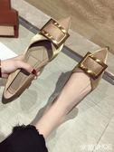 平底鞋 小香風單鞋女款尖頭淺口黑色正韓百搭平底仙女鞋 米蘭shoe