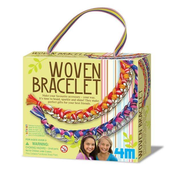 【4M】美勞創作系列-好朋友藝術編織手環 Woven Bracelets 00-04641