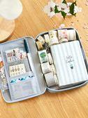 韓國帆布筆袋 簡約小清新大容量鉛筆袋 可愛中學生多功能文具盒女    伊芙莎