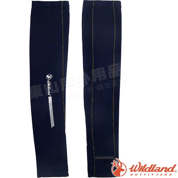 Wildland 荒野 W1810-72深藍色 中性開洞抗UV透氣袖套 抗UV遮陽手套/快乾機車手套/單車防曬袖套*
