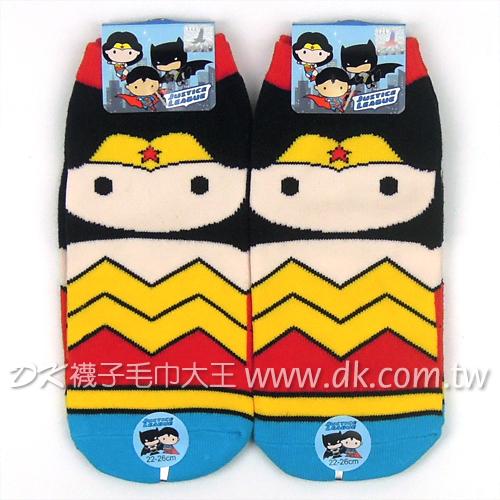 正義聯盟 神力女超人成人直板襪 DC-S113A ~DK襪子毛巾大王