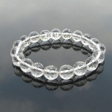 炫彩白水晶手鏈 128面 極品材質 規格齊全