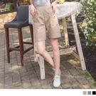 《BA6195》高含棉鬆緊腰鈕釦造型多口袋短褲 OrangeBear