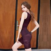 【曼黛瑪璉】美型顯瘦 中腰中管束褲S-XL(復古紫)(未滿2件恕無法出貨,退貨需整筆退)