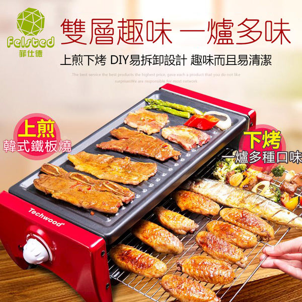 現貨快出   110v 中號(2-6人)多功能不粘鍋分離式電烤盤 歐韓流行館