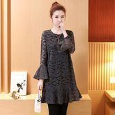蕾絲連衣裙2韓版大碼女裝胖鬆顯瘦打底裙