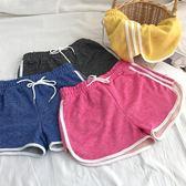 超豐國際 抽繩松緊腰寬松闊腿褲顯瘦 褲學生 短褲女1 入