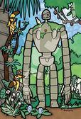 【拼圖總動員 PUZZLE STORY】庭園中的機器人 日本進口拼圖/Ensky/天空之城/126P/迷你/透明塑膠