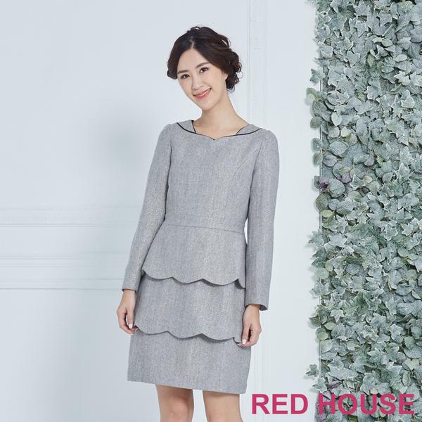 RED HOUSE-蕾赫斯-羊毛層次洋裝(共兩色)