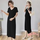 孕婦洋裝 2020新款夏裝孕婦洋裝長款時尚款莫代爾純棉長裙孕婦裝夏天裙子 LW176