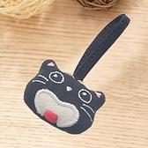 Kiro貓‧笑臉貓 立體造型 拉鍊配件/包包掛飾/拉鍊頭吊飾【222355】