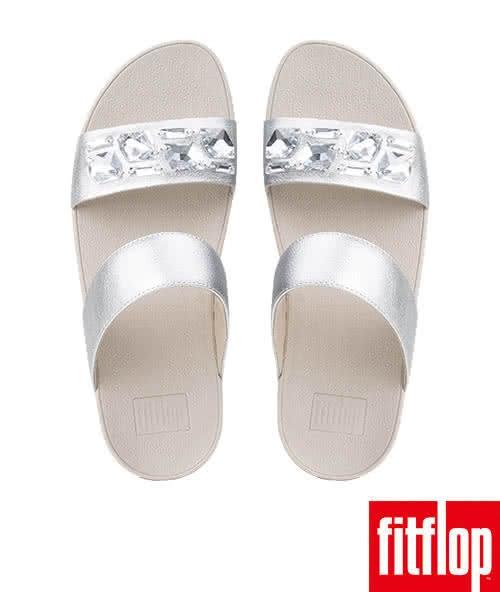【FitFlop TM】SPARKLIE TM SLIDE SANDAL(銀色)