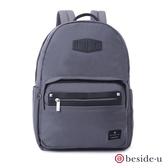 beside u BNUM 中性多功能多口袋13吋筆電行李箱拉桿後背包 – 深灰色 原廠公司貨