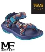 TEVA Hurrican 多功能運動涼鞋 中童 - 藍綠 - 19390CGBRN