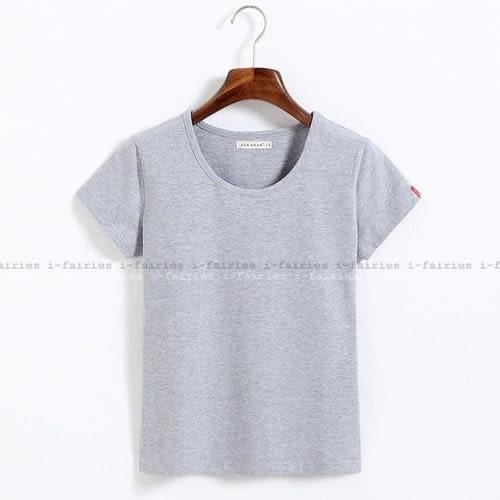 現貨+快速★修身棉質短袖T恤 上衣★ifairies【40493】