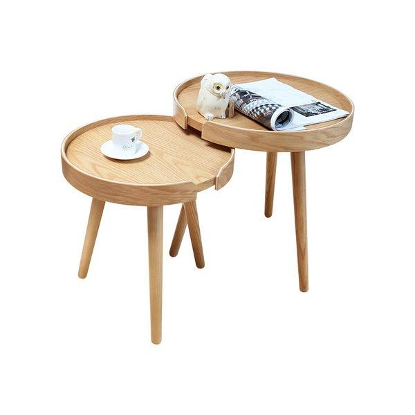 茶几 邊桌 Nichi日子簡約木作高低圓桌【DD House】