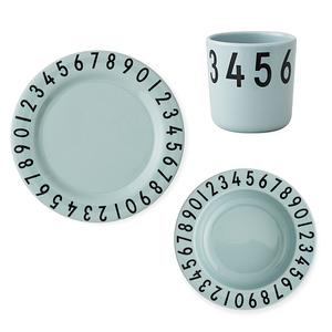 Design Letters 兒童餐盤杯3入組 綠