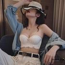 無肩帶內衣女防滑聚攏無鋼圈文胸隱形裹胸式胸罩bra【時尚大衣櫥】