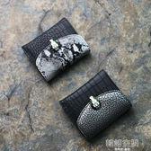 歐美新款蛇皮紋超薄多卡位大容量錢夾皮夾時尚蛇頭錢包 韓語空間