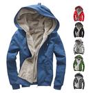 [現貨] 玩色概念寒流保暖舒適超厚絨毛防寒純棉連帽外套大尺碼 M~4L(六色)【QZZZ150】