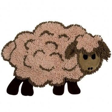 HOLA home動物派對棉踏墊60x90cm 棉羊