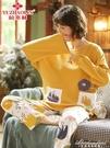 睡衣女春秋款長袖純棉韓版清新學生薄款夏季全棉家居服套裝 黛尼時尚精品