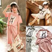 休閒裝 女童運動套裝夏裝新款時尚中小兒童時髦夏季超洋氣短袖兩件套 寶貝計畫