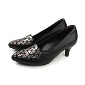 HUMAN PEACE  低跟鞋 尖頭鞋 黑/銀色 女鞋 053525OB no277