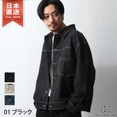 縫線外套襯衫 薄外套 3色