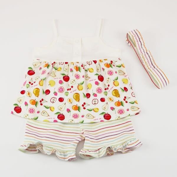 【愛的世界】純棉水果百匯細肩帶套裝/1~4歲-台灣製- ★春夏套裝