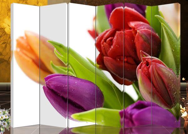六扇屏風-浪漫玫瑰604