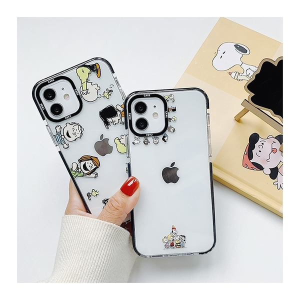 史努比人物繞圈圈 適用 iPhone12Pro 11 Max Mini Xr X Xs 7 8 plus 蘋果手機殼