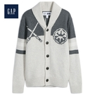 Gap男童星球大戰系列圖案長袖針織衫513462-駝灰色