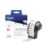 Brother DK-22214 連續標籤帶 12mm 白底黑字 耐久型紙質 適用全系列QL標籤機