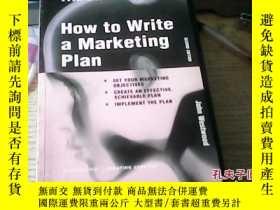 二手書博民逛書店HOW罕見TO WRITE A MARKETING PLANY2