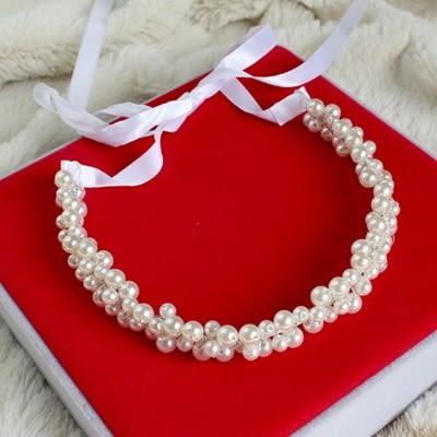 髮箍珍珠-時尚氣質簡約百搭生日七夕情人節禮物女頭飾73ex9[時尚巴黎]