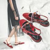 涼鞋-小ck女鞋夏季新款涼鞋女仙女風包頭學生單鞋平底瑪麗珍潮-奇幻樂園