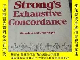 二手書博民逛書店Strong s罕見Exhaustive Concordance