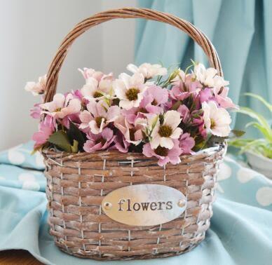 裝飾仿真花套裝客廳花仿真擺件花歐式田園仿真花束假花