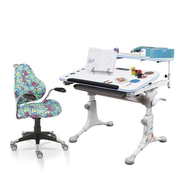 新品上市【Artso亞梭】巧智桌+神采飛揚椅-DIY商品/兒童書桌/成長書桌/機械卡榫調整桌高