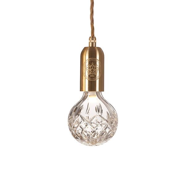 Lee Broom Crystal Bulb & Pendant Brushed Brass 英倫 水晶雕花系列 圓球吊燈 - 黃銅色(透明清透玻璃燈罩)