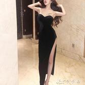 晚禮服 性感夜店女裝性感抹胸連身裙夜場氣質修身顯瘦包臀裙 卡卡西