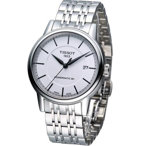 天梭 Tissot Carson 經典紳士機械錶 T0854071101100