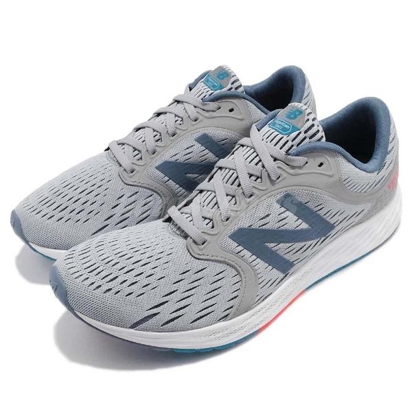 New Balance 慢跑鞋 MZANTHW4 2E 寬楦 灰 藍 高透氣鞋面 輕量緩震 慢跑鞋 男鞋【ACS】 MZANTHW42E