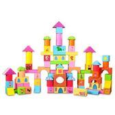 正版《Peppa Pig 》←粉紅豬小妹配對圖型桶裝積木組/ 100 PEPPA PIG BLOCKS P