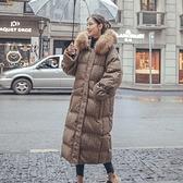 連帽外套-長版舖棉寬鬆大毛領格紋女夾克73wd28[巴黎精品]