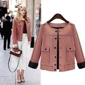 (現貨+預購 RN-girls)-加大碼街頭時尚仿麂皮休閒短外套夾克
