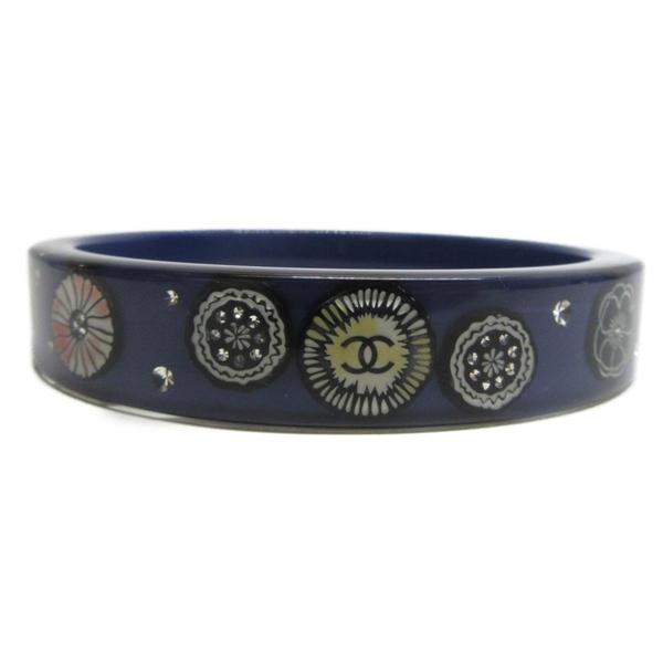 CHANEL 香奈兒 藍紫色壓克力雙層手環 【BRAND OFF】