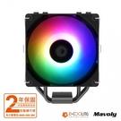 ID-COOLING SE-224-XT ARGB V2 散熱器/4導管/高15.4/全黑化/TDP:180W【VWX】【刷卡分期價】